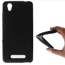 FUNDA DE TPU GEL SILICONA GOMA PARA MOVIL ZTE BLADE A452 COLOR NEGRA NEGRO LISA
