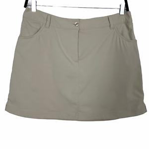 Slazenger Women Skort Athletic Tan Pockets Above Knee Size 12