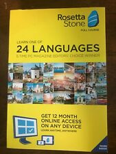 Rosetta Stone Learn 1 of 24 Languages - 12 Mo. Online Access Mac Windows