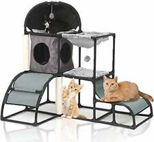 New listing Cat Tree for Large Cats Super Stable Cat Furniture with Scratching Posts (grey)