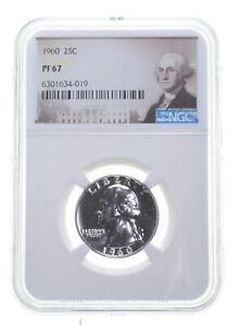 1960 PF67 Proof Washington Quarter NGC Graded - White Coin Spot Free PR *0160