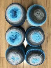 Pack Of 6 Spirit - Mandala Yarn 150g Cake 20% wool knitting crochet DK gradient