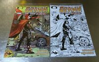 Set Spawn #223 Color & Sketch Variant Cover Mexican Edition - Todd McFarlane!