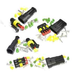 Superseal Electrical Connector Kits - 1, 2, 3, 4, 5, 6 Way - Waterproof 12/24v