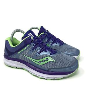 Saucony Guide ISO Running Shoes Womens Size 7.5 Wide Purple Athletic S10416-1