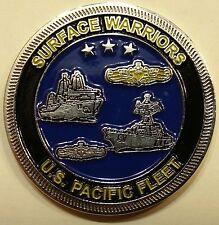 Surface Warriors US Pacific Fleet Navy Challenge Coin