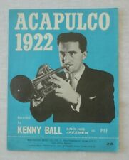 VINTAGE SHEET MUSIC 1962:  Acapulco 1922 by Kenny Ball and his Jazzmen