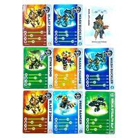 Lot de 9 cartes Skylanders / Disney Infinity Swap Force, NFC