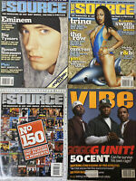 3 Source Magazines 1 Vibe Music Rap Hip Hop Eminem, Trina, Collector's Issue