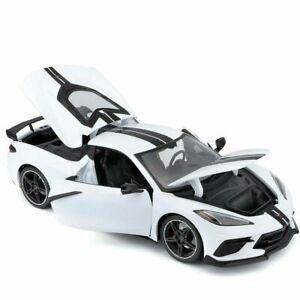 Maisto 2020 Chevrolet Corvette Stingray Coupe Die Cast Car Model 1:18 White