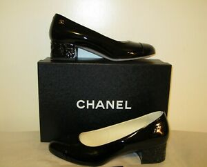 CHANEL Pumps, NEW, Black, Patent Leather, Size 37,5