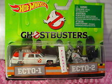 2016 GHOSTBUSTERS ECTO-1 Cadillac & ECTO-2 Motorcycle set✰Real Riders✰Hot wheels