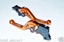 Orange Black Short 6 Position Adjustable Brake Clutch Levers KTM Duke/RC 200/390