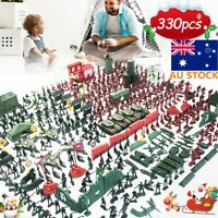 330PCS Military Plastic Model Playset Kids Toy Soldiers Figures Accessories Gift