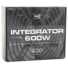 Aerocool integrador 600w 85 + Pc Gaming fuente de alimentación de ventilador de 120mm PFC activo de PSU