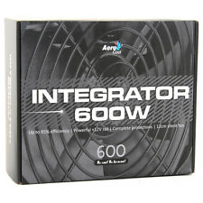 Aerocool integratore 600W 85 + PC GAMING POWER SUPPLY 120mm Fan PFC ATTIVO PSU