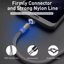 1M Braided Magnetic Lightning Plug iPhone Fast Charger Data Cable