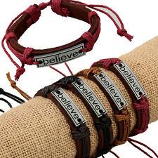 Belive Leather Bracelet