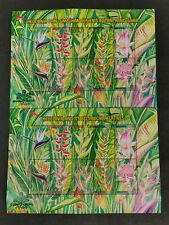 1999 malaysia stamp week heliconia flower plants full sheet uncut perf 20v MNH