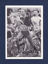 Grete Waitz signed Marathon runner photo 1953-2011