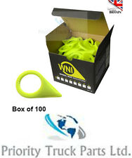 WNI Truck Wheel Nut Indicators - 32mm - Yellow - Box of 100
