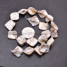 "1 Strand 15"" White Shell MOP Freeform Shape Gemstone Charms Loose Beads 15-25MM"