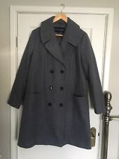 French Connection Grey Oversized Winter Double Breasted Wool Mix Coat 12
