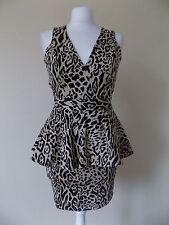 Womens ASOS dress, size 6, brown/animal print, short, brand new