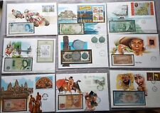 s1586) Banknote letters from all over the world 72 NB Collection in 2 Albums