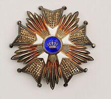 Belgique: plaque de Grand Officier de l'ordre de la Couronne
