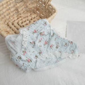 Japanese Sweet Girls Floral Panties Bow Briefs Sweet Lolita Underwear Underpants