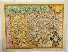 Reproduction Map of Germany - BAVARIA DUCATUS - by Mercator/hondius in 1619
