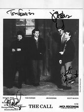 * THE CALL * rare signed 8x10 MCA promo photo incl. Michael Been / Epperson