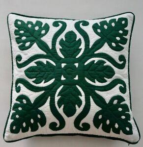 2 Hawaiian quilt handmade hand quilted/appliquéd cushions pillow covers MONSTERA
