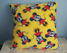 NEW RED YELLOW FLEECE MINNIE MOUSE PILLOW CUTE L@@K