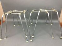 "4 X Set 4 Vintage Eames ""H"" Bases For Shell Chair Herman Miller. DAX DAR RAR"