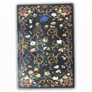 """54"""" x 32"""" dining Table Top Marble Top inlay marquetry handmade Home inlay Art"""