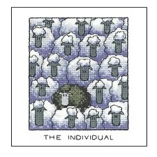 HERITAGE CRAFTS THE INDIVIDUAL SHEEP COUNTED CROSS STITCH KIT PETER UNDERHILL