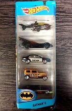 HOT WHEELS BATMAN 5 PACK SCALA 1:64 DIE CAST MATTEL CDT28 nuovo