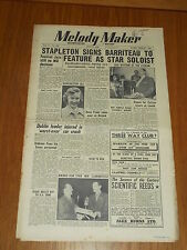 MELODY MAKER 1951 #924 JUN 2 JAZZ SWING STAPLETON BARRITEAU JACK FRAZER GIBBONS