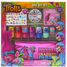 Townley Girl Dreamworks Trolls Nail Art Set, Includes: 240 Nail Gems, 42 Sticker