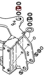 D135555 One (1) New Bushing Fits Case IH Models 580K, 580SK