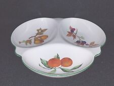 Royal Worcester EVESHAM VALE (Made in England) - Three Part Relish Dish 9 1/4""