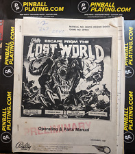 Escape from the Lost World - Bally-Pinball Manual