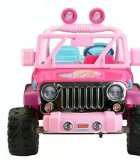 jeep barbie ride on pink