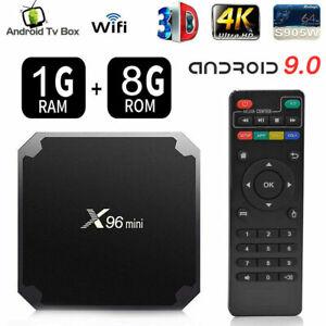 Smart TV Box IPTV X96 Mini Android 4k Décodeur Chaînes 2GB/16GB Wifi Media 9.0