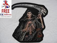Grim Reaper Esqueleto Grande De Hierro-Encendido/Sew-On para motociclista bordada parche