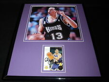 Doug Christie Signed Framed 11x14 Photo Display Kings Lakers