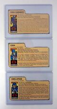 GI JOE MISSILE COMMAND FILE CARD SET Cobra Commander Enemy Officer RED BACK 1982