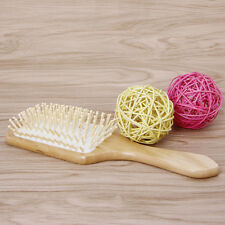 Wood Paddle Hairbrush Cushion Massage Hair Comb Brush White Air Bag Wooden Pins